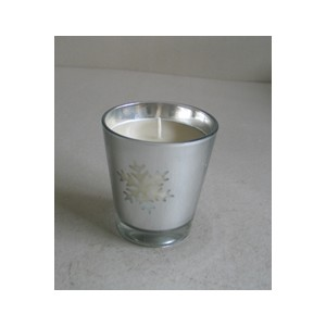galvanized glass candle